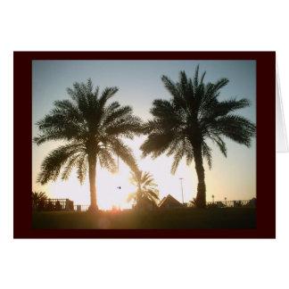 Palm trees in Doha Card