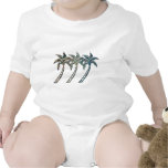 Palm Trees in Paua Shell Textures Romper