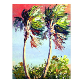 Palm Trees in the Wind 21.5 Cm X 28 Cm Flyer
