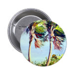Palm Trees in the Wind 6 Cm Round Badge