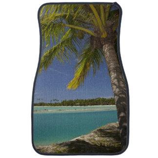 Palm trees & lagoon, Musket Cove Island Resort Floor Mat