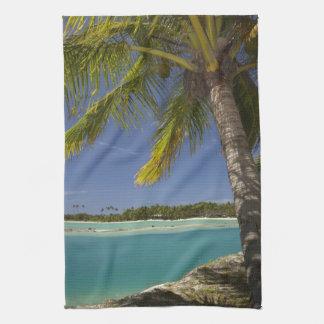 Palm trees & lagoon, Musket Cove Island Resort Hand Towel
