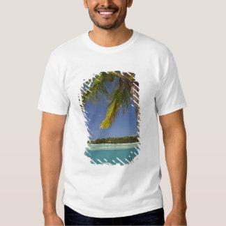 Palm trees & lagoon, Musket Cove Island Resort T-shirts