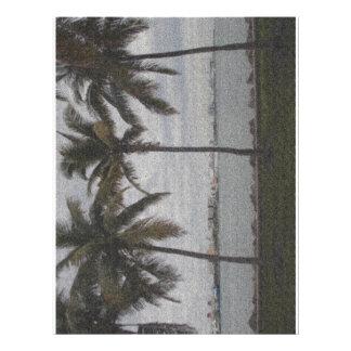 Palm Trees Miami, Florida 21.5 Cm X 28 Cm Flyer