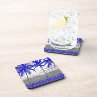 Palm Trees Miami, Florida Blue Drink Coasters
