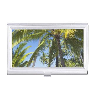 Palm trees, National Historic Park Pu'uhonua o Business Card Holder