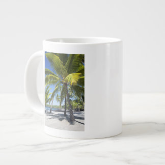 Palm trees, National Historic Park Pu'uhonua o Large Coffee Mug
