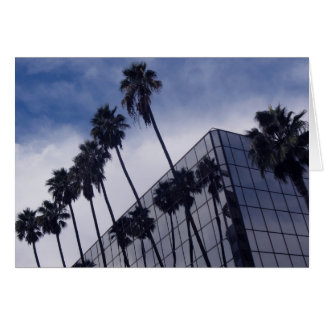 Palm Trees & Office Building Greeting Card