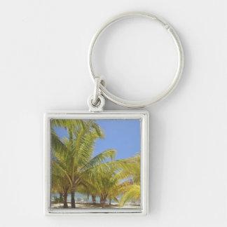 Palm Trees on a Honduras White Sand Beach Key Ring