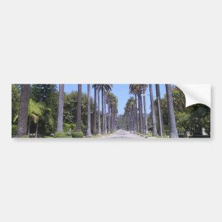 Palm trees on a street in Los Angeles Bumper Sticker