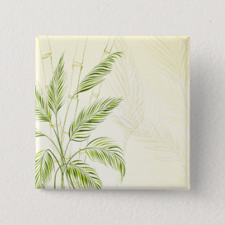 Palm Trees on Bamboo Forest | Pin Button