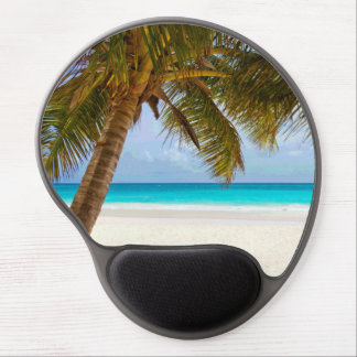 Palm Trees on Beach Blue Sea & Sky Gel Mouse Mat