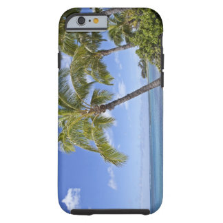 Palm trees on the beach in Hawaii. Tough iPhone 6 Case