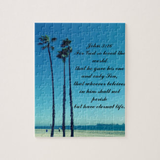 Palm trees on the beach jigsaw puzzle