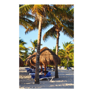 palm trees on the beach personalized stationery