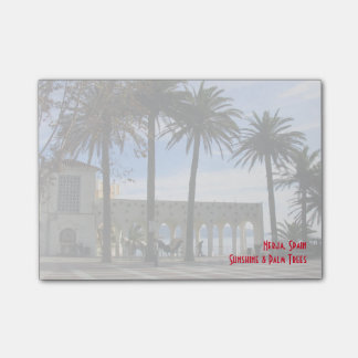 Palm Trees On The Promenade in Nerja, Spain Post-it® Notes