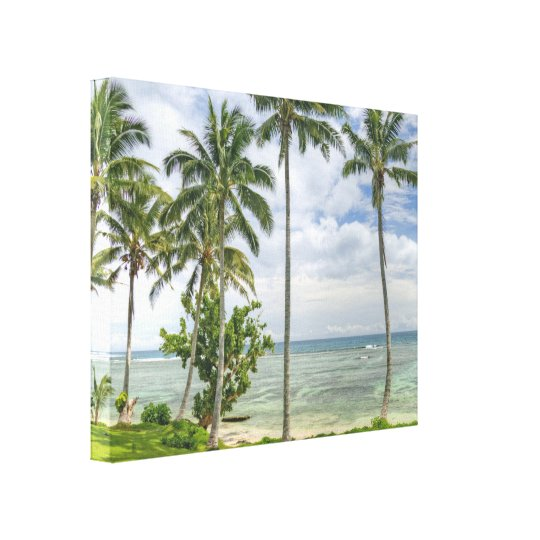 Palm Trees on the Shore Canvas