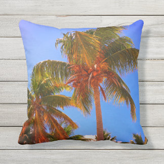 Palm Trees Outdoor Cushion