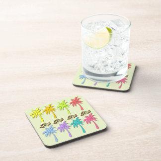 Palm Trees Pattern Drink Coaster Set (6)