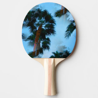 Palm trees ping pong paddle