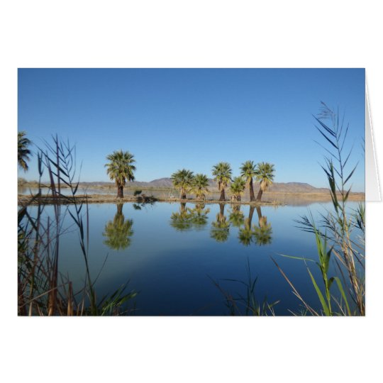Palm Trees Reflected Card