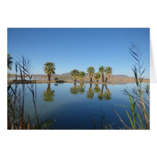 Palm Trees Reflected Greeting Card