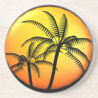 Palm Trees Sandstone Beverage Coaster