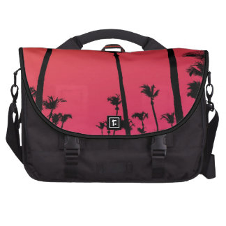 Palm Trees Silhouettes at Sunset Laptop Bag