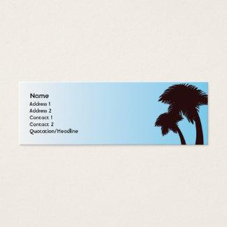 Palm Trees - Skinny Mini Business Card
