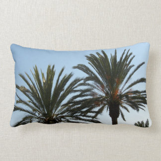 Palm Trees Sky Photo Lumbar Pillow