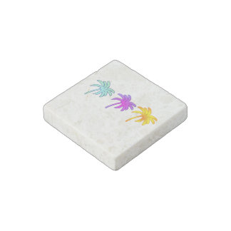 Palm Trees Stone Magnet