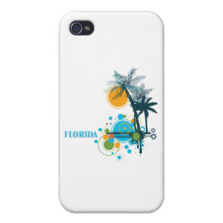 Palm Trees Sun Circle FLORIDA iPhone 4 Case