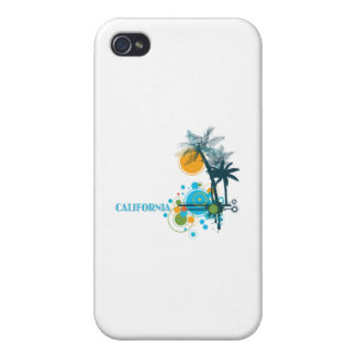Palm Trees Sun Circle iPhone 4/4S Cases