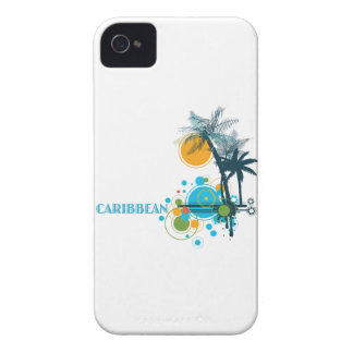 Palm Trees Sun Circles CARIBBEAN iPhone 4 Cover