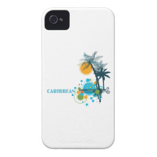 Palm Trees Sun & Circles CARIBBEAN Case-Mate iPhone 4 Cases
