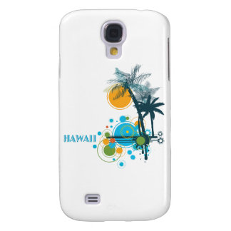 Palm Trees Sun Circles HAWAII Galaxy S4 Cases