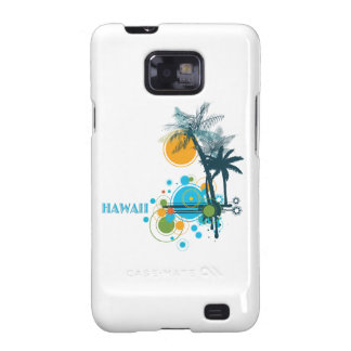 Palm Trees Sun Circles HAWAII Samsung Galaxy S2 Covers