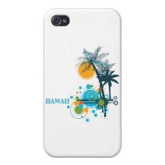 Palm Trees Sun Circles HAWAII iPhone 4 Covers
