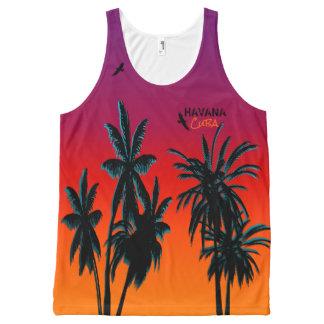 Palm Trees Sunset Haze Customize Havana Cuba All-Over Print Tank Top