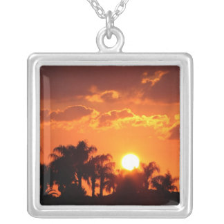 Palm trees Sunset, Necklace