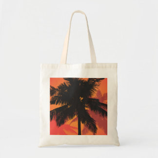 Palm Trees Sunset Silhouettes Budget Tote Bag