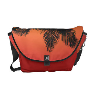 Palm Trees Sunset Silhouettes Courier Bag
