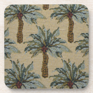 Palm Trees Tapestry Texture Look Drink Coaster