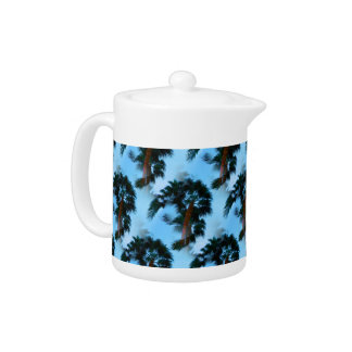 Palm trees teapot