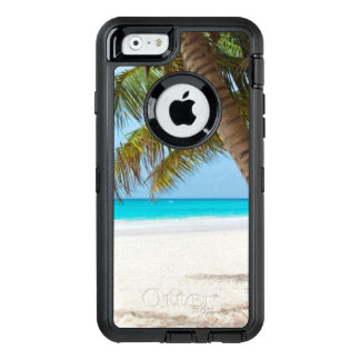 Palm Trees Tropical Beach OtterBox Defender iPhone Case