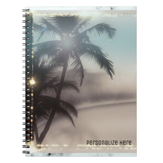 Palm Trees Tropical Beach Personalised Notebook