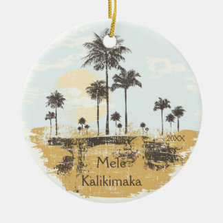 Palm Trees Tropical Hawaiian Christmas Ornament