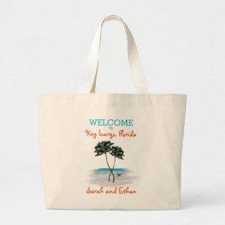 Palm Trees Weekend Wedding Welcome Jumbo Tote Bag