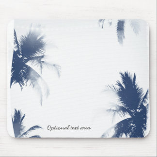 Palm Trees White Glamour Chic Modern Tropical Mouse Pad
