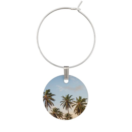 Palm Trees Wine Glass Charm